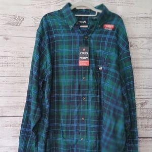 NWT Chaps Men's Long Sleeve Flannel Shirt XLT